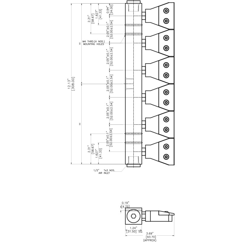 rampe de soufflage d 39 air comprim. Black Bedroom Furniture Sets. Home Design Ideas